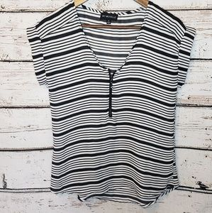 🛒 My Michelle Blouse Black & White Career Small
